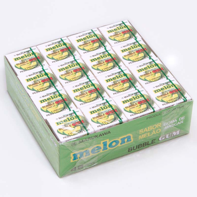 caixa-de-chicletes-sabor-melao-48-unidades-Marukawa-embalagem